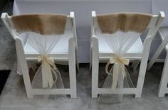 rustic wedding chair covers | Rustic elegant wedding chair covers.Inexpensive, Easy Chair covers ...