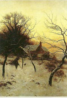 Artist:Edward Wilkins Waite Title:Mid-winter at Abinger Hammer, near Dorking, 1892
