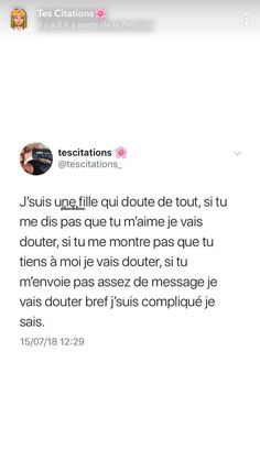 c vraie🥰😶 - #vraie Text Quotes, Words Quotes, French Quotes, True Feelings, Bad Mood, Sweet Words, True Facts, Sentences, Lol