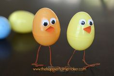plastic Easter egg Chicks! My boys loved these!