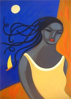 yellow dress woman  illustration , carmen garcia
