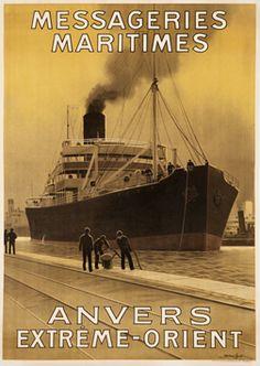 Sandy Hook (George Taboureau) poster: Messageries Maritimes Anvers Extreme-Orient (Far East)