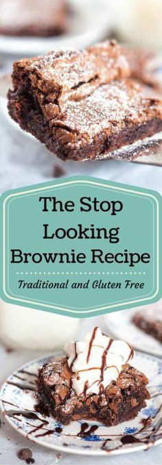 Everyone wants to find their go to, perfect brownie recipe. Here it is, so STOP LOOKING! The Stop Looking Brownie Recipe is chewy and fudgy with a crunchy top coating. Perfection! www.mamagourmand.com