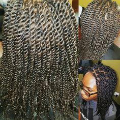 Kinky Twists on NATURAL Hair www.styleseat.com/theresaford