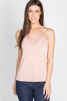 This tank is the absolute cutest! Not only are the edges at the top somewhat frayed but it also has lace all around the top and down the back. The perfect mix between sexy and casual, this will go with most anything! Silver Icing, Stylist Pick, Stylists, Tank Tops, Lace, Sexy, Casual, Women, Fashion