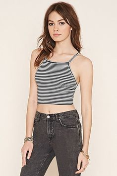 Striped Cropped Cami   Forever 21 Canada