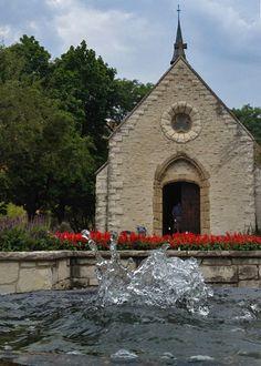 A splash of the water fountain near Marquette University's St. Joan of Arc Chapel. (Photo taken July 13, 2012.)
