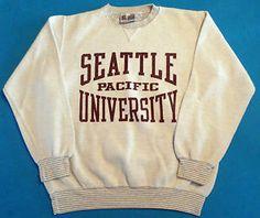 Vintage 80s Seattle Pacific University Sweatshirt, Adult Sz M, Christian College