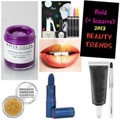 I will buy every single one!!!The BOLD (and Bizarre) Beauty Trends of Spring/Summer 2013