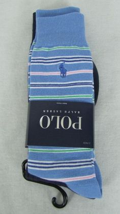 Polo Ralph Lauren 2 Pack Men's Socks Size 10-13, Shoe Size 6-12 1/2 NEW #PoloRalphLauren #Dress 14.98