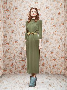 Dream in green. #dress #clothes #green #ribbon