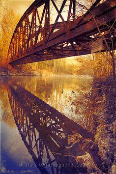 abandoned bridge  Prints: http://society6.com/DirkWuestenhagenImagery/memories-OcA_Print