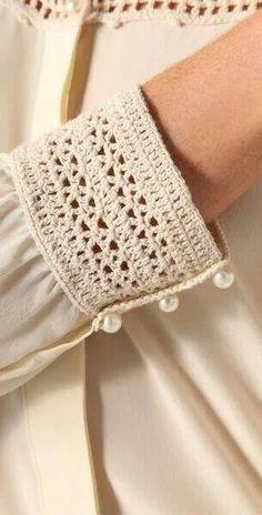 "堆糖-美好生活研究所 ""Beyond Vintage Crochet Yoke Blouse in White Inspiracion ✭Teresa Restegui"", ""Buy Beyond Vintage Women& White Crochet Yoke Blouse, starting at Beau Crochet, Crochet Yoke, Mode Crochet, Crochet Blouse, Crochet Stitches, Diy Crochet Collar, Crochet Fabric, Crochet Bikini, Crochet Clothes"