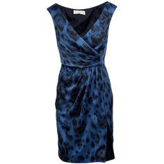 STELLA MCCARTNEY WFO 259100 BLUE SILK 73934042 (€1.410) ❤ liked on Polyvore featuring dresses, women, blue dress, rouched dress, blue ruched dress, ruched dress and blue silk dress