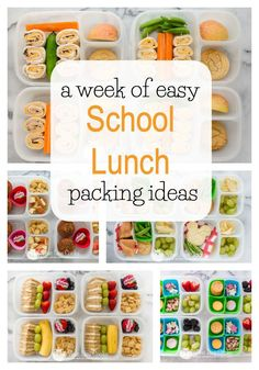A week of lunches A week of lunches A week of easy school lunch packing ideas from WhatLisaCooks A week of lunches A week of easy school lunch packing ideas from WhatLisaCooks Kids Lunch For School, Healthy Lunches For Kids, Healthy School Lunches, Healthy Snacks, Healthy Recipes, Detox Recipes, School Week, Healthy Kids Breakfast, School Ideas