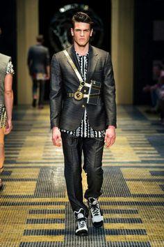 Versace Men SS'13 #MFW #runwayfashionary