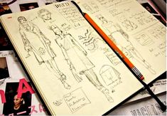 sketchbooks just another fabulous Shauna (VI Fit Network) lee lange ~ art church curation Fashion Sketchbook, Fashion Sketches, Sketchbook Layout, Sketchbook Pages, Sketchbook Ideas, Inspiration Art, Sketchbook Inspiration, Moleskine, Illustration Sketches