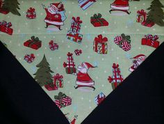 Silly Busy Santa Christmas Dog Bandanas!! by DogGoneGoodBandanas on Etsy