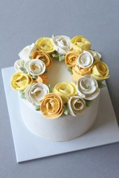 Buttercream flower cake - Eat Cake Be Merry