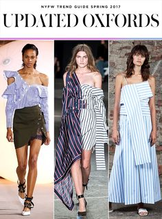 Top 10 Trends from NYFW Spring 2017 | Oxford shirts and dresses | Self-Portrait; Monse; Claudia Li | Fashion Week SS17