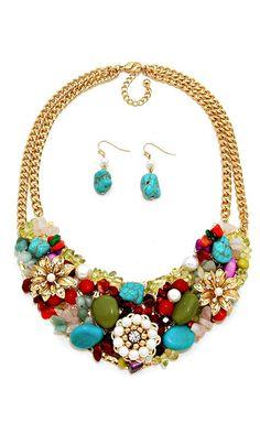 Semi Precious Valencia Necklace