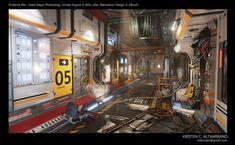 Preserve Me, Kristen C. (Wong) Altamirano on ArtStation at… Cyberpunk, Sci Fi Environment, Environment Design, Zbrush, Rat Dog, Space Opera, Spaceship Interior, Sci Fi Novels, Futuristic Art