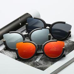 Fashion Vintage Cat Eye Sunglasses Women Mens Brand Designer Sun Glasses Unisex Flat Mirror Glasses Sexy Sunnies oculos de sol #Affiliate