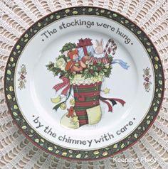 Portmeiron CHRISTMAS STORY Salad Plate Series 1 Susan Winget Free Ship #PortmeirionStudio