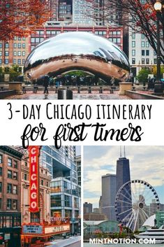 holiday trip 3 day Chicago itinerary for first time visitors on a budget. Save money on attractions and tours. Art Institute of Chicago. Chicago Vacation, Chicago Travel, Travel Usa, Chicago Trip, Atlanta Travel, Chicago Shopping, Travel Trip, Travel Goals, Travel Tips