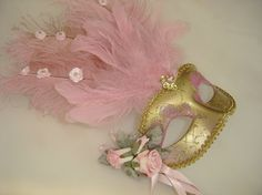 Hey, I found this really awesome Etsy listing at https://www.etsy.com/listing/109541302/light-pink-rose-venetian-mask