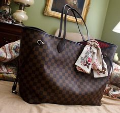 Louis Vuitton Damier Ebene Canvas Neverfull Bags N51105