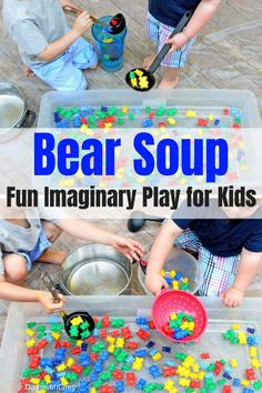 imaginary play ideas for kids with water play. This dramatic play idea is perfect for toddlers and preschoolers. Use in your pre-k classroom to ignite creativity or at home with your three-year-old or four-year-old. Sensory Table, Sensory Bins, Sensory Activities, Sensory Play, Toddler Activities, Preschool Activities, Indoor Activities, Summer Activities, Family Activities