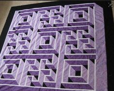Labyrinth walk pattern from the aprilmay issue of quilt magazine. 3d Quilts, Bargello Quilts, Rag Quilt, Quilt Blocks, House Quilts, Mini Quilts, Quilt Top, Labrynth Quilt Pattern, Labyrinth Walk