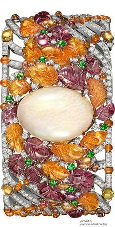 Cartier Bracelet carved orange mandarin garnet,tsavorite pink tourmaline save by Antonella B.Rossi