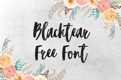 DLOLLEYS HELP: Blacktear Free Font