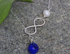 4 sets of Gemstone Infinity Necklace.Birthstone Sterling Silver Infinity Necklace, Bridesmaid Gifts, Sapphire Quartz,Bridal Jewelry on Etsy, $120.00