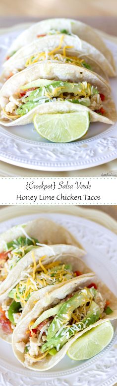The crockpot does all the work when it comes to these easy chicken tacos, and plus, they pack a punch in the flavor department. Don't worry, guys, I've got dinner covered.