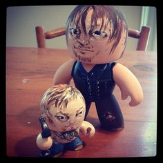 Tiny & not so Tiny Daryl Dixon need to work on the wings on the back tomorrow