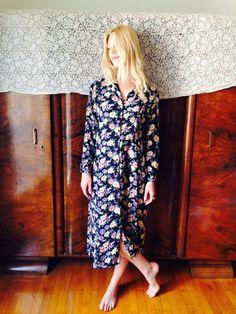Indian Rose Dress/Vintage 70's Gauze Dress/Maxi by LydiaLoveVtg