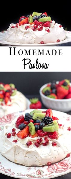 Pavlova - Erren's Kitchen -This recipe makes scrumptious treat for a hot summer's day. Choose your own topping for this summery delight that tastes as dreamy as it looks!