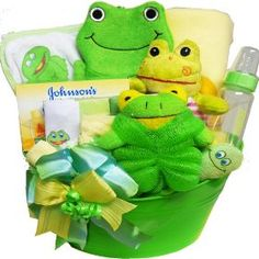 Art of Appreciation Gift Baskets My Little Pollywog Bath Time Fun For Baby Boys and Girls Gift Basket, (baby, baby-girl-gift-ideas, diaper care, skin care, baby shower gift, baby gifts, baby gift, baby bath, gifts-for-baby-shower, baby and childcare) Girl Gift Baskets, Baby Shower Gift Basket, Baby Shower Gifts For Boys, Baby Baskets, Baby Bath Gift, Bath Gift Basket, Cute Baby Gifts, New Baby Gifts, Baby Boy Shower