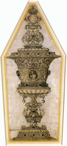 Jane Seymour's Cup - Hans Holbein the Younger. Pen, india ink, and watercolor. x cm. of holbein Wives Of Henry Viii, King Henry Viii, King Charles, Anne Of Cleves, Anne Boleyn, Tudor Era, Tudor Style, Jane Seymour, Tudor History