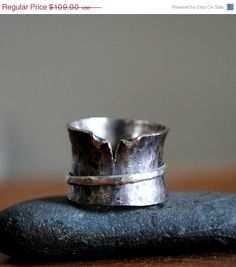 Sterling Silver Spin Ring Worry Ring by TiffanyAnneStudios on Etsy, $81.75