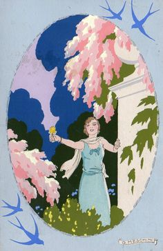 Meschini, Art Deco - Ars Nova - Dipinta a Mano, - eBay