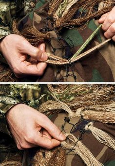 How To Make A Ghillie Suit - Get all the supplies you need to make your own Ghillie at www.onedirtyghillie.com
