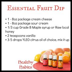 Young Living Essential Oils: Fruit Dip Recie