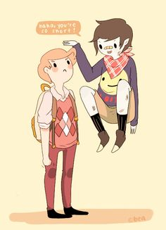 Marshall Lee and Prince Gumball #Adventuretime