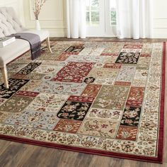 Safavieh Lyndhurst Collection Traditional Multicolor Ivory Rug 11 X Rectangle Red Size Olefin Oriental