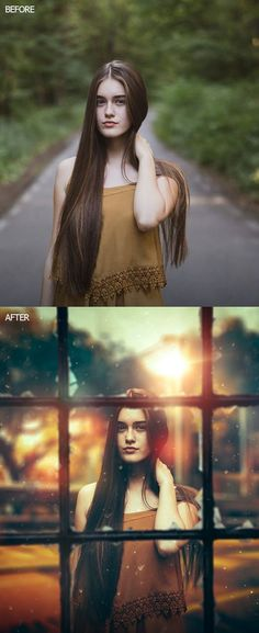 The Lady on the Window Portrait Manipulation #bestof2017 #photoshoptutorials #freetutorials #photomanipulation #retouch #tuts