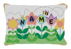 What's New this week! Busy Bee Personalized Needlepoint Pillow
